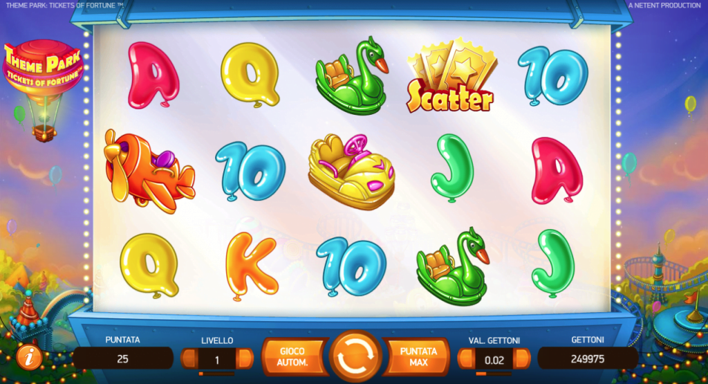 theme park slot game